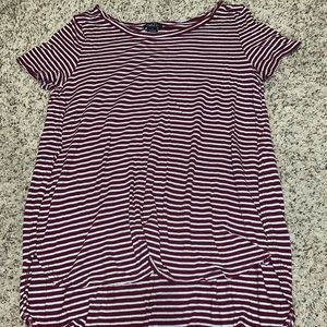 Red and white strip t shirt